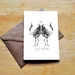 cranes wedding card sm
