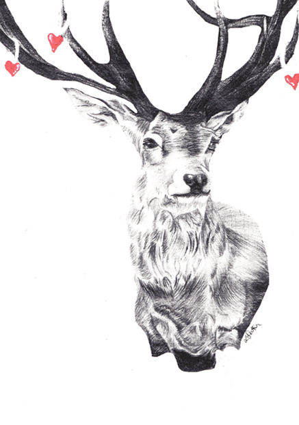 heart stag sm