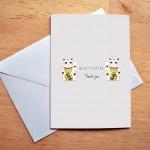 maneki thanks card sm