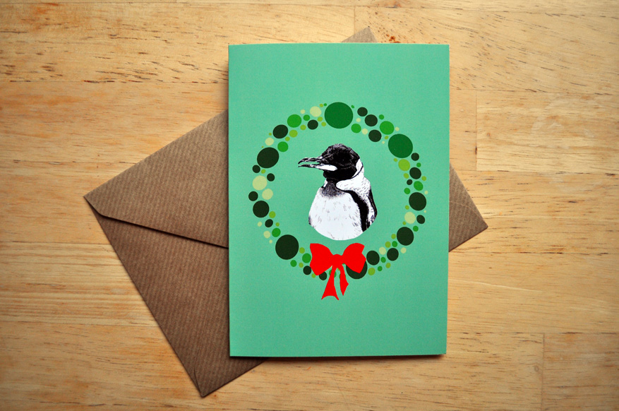 penguin christmas card sm