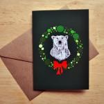 polar bear christmas card sm