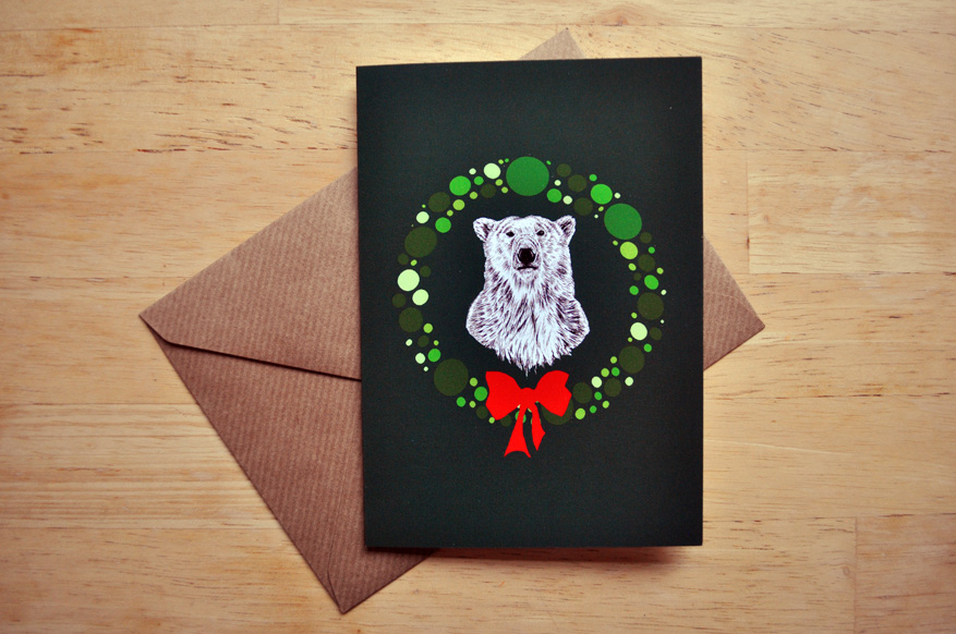 polar bear christmas card sm