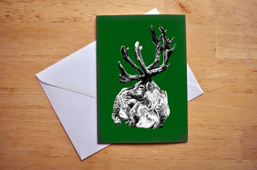 reindeer card sm
