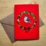 robin christmas card sm