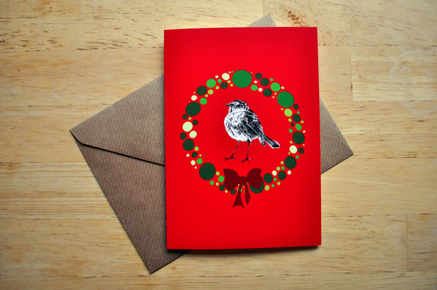 robin christmas card sm