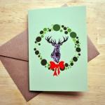 stag christmas card sm