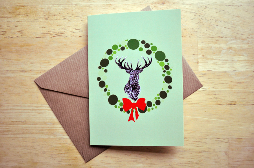 stag christmas card sm